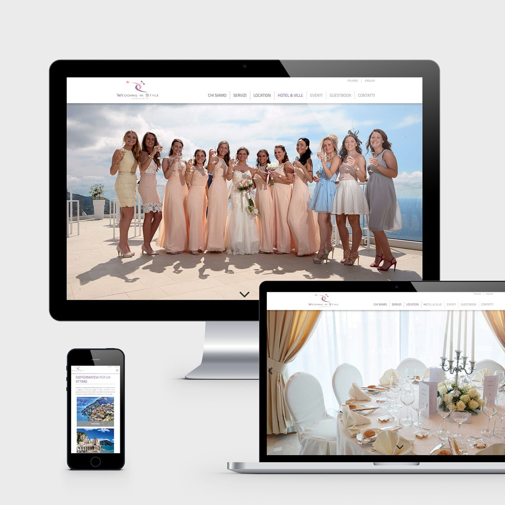Sorrento wedding in style - sito web